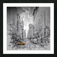 Graphic Art NEW YORK CITY 5th Avenue Picture Frame print