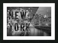 MANHATTAN SKYLINE Evening Atmosphere Picture Frame print
