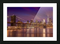 BROOKLYN BRIDGE Sunset  Picture Frame print