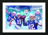 PATRIOTS Football Picture Frame print