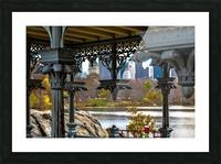 Inside Gazebo Central Park  Picture Frame print