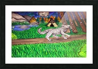 ProudWolf Picture Frame print