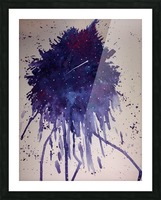 Space Splat Picture Frame print
