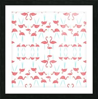 flamingos Picture Frame print
