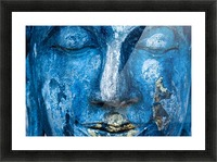 Buddha Face Picture Frame print