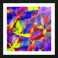 circle pattern abstract background in blue yellow red pink Picture Frame print