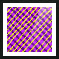 line pattern painting abstract background in purple and yellow Picture Frame print