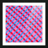 line pattern painting abstract background in pink red blue Picture Frame print
