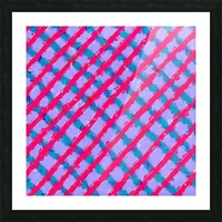 line pattern painting abstract background in red purple blue Picture Frame print