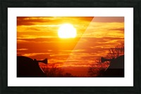 Train horn sunset Picture Frame print
