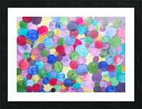 Colored Balls. Picture Frame print