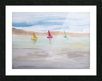 Three sailboats. Picture Frame print