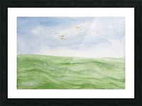 Birds over the ocean. Picture Frame print