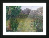 Distant Mountains. Picture Frame print