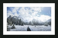 Mountain World Picture Frame print