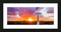 Rushville, IL Presbyterian Church Cross at Sunset II Picture Frame print
