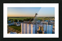 Schuyler County, IL FS Towers Picture Frame print