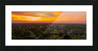 Rushville, IL Sunset Picture Frame print