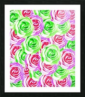closeup rose pattern texture abstract background in pink red green Picture Frame print