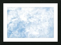 Wispy White Cloud. Picture Frame print