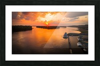 Grafton, IL River Sunset Picture Frame print