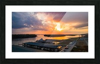 Grafton, IL Sunset Picture Frame print