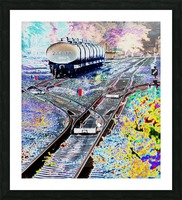 Tanker Wagons. Picture Frame print