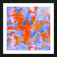 splash painting texture abstract background in red blue orange Impression et Cadre photo