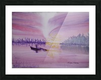Net fishing. Picture Frame print
