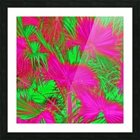 closeup palm leaf texture abstract background in pink and green Picture Frame print