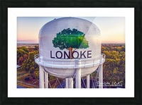 Lonoke, AR | Painted Water Tower 2017 Picture Frame print