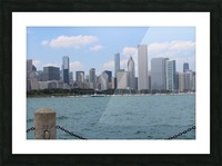 Chicago from the other side Picture Frame print