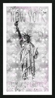 Graphic Art NEW YORK CITY Statue of Liberty Picture Frame print
