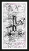 Graphic Art NEW YORK CITY Manhattan Bridge Picture Frame print