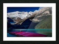 LakeLouiseCanoes Picture Frame print