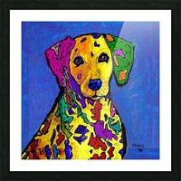 RAINBOW DALMATION  Picture Frame print