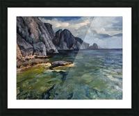 Capri grotto Picture Frame print