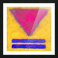 INVERTED PINK TRIANGLE Picture Frame print