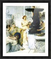 The Sculpture Gallery detail by Alma-Tadema Picture Frame print