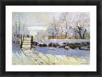 The Magpie by Monet Picture Frame print