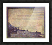 The mouth of the Seine at Honfleur, evening by Seurat Picture Frame print