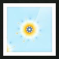 Snow flake fractal Picture Frame print