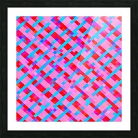 geometric pixel square pattern abstract background in pink blue red Picture Frame print