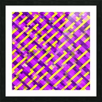 geometric pixel square pattern abstract background in pink purple yellow Picture Frame print