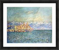 The old Fort in Antibes by Monet Picture Frame print