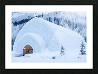 THE WINTER BARN Picture Frame print