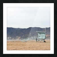 Lonely Lifeguard Tower at Beach Picture Frame print
