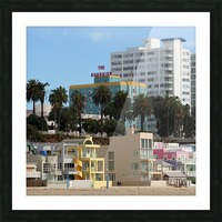 The Georgian at Santa Monic Beach Picture Frame print