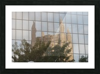 Reflection of Church Building Picture Frame print