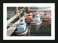3 Toy Boats Picture Frame print